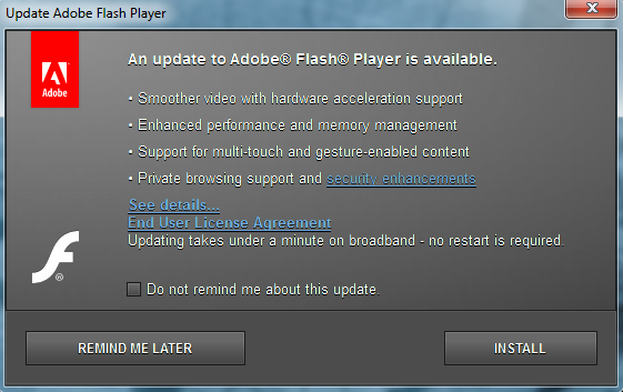Image result for flash player update