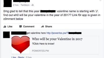 Phishing for Valentines of Facebook