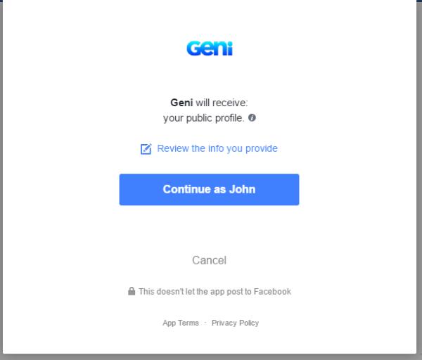 Geni Permissions Request
