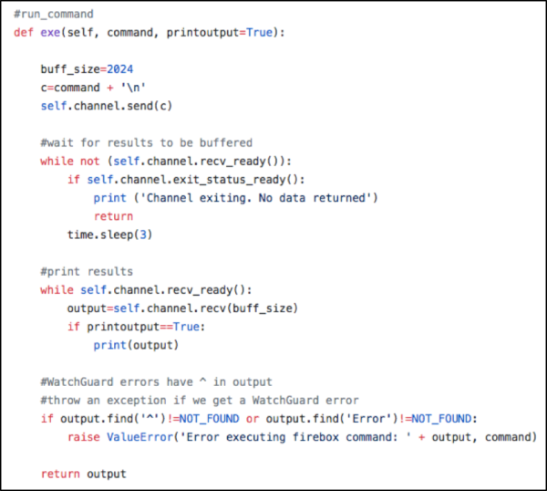 Create Firewall Rules with Python and the WatchGuard