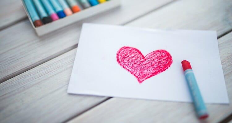 Crayon heart