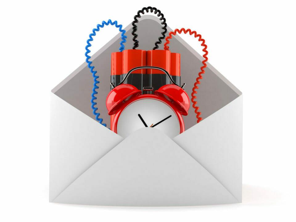 Time bomb inside envelope