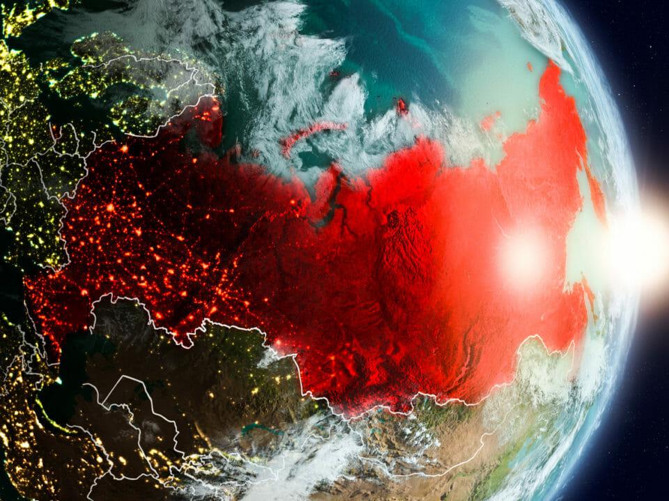 Russia during sunrise