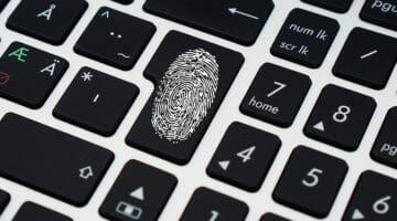 password thumbprint on keyboard