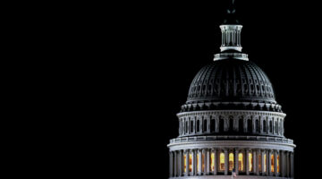 Dome of the U.S. Capitol by night