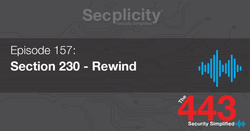 157 section 230 rewind